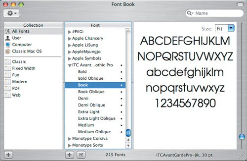 Apple Font Book Mac