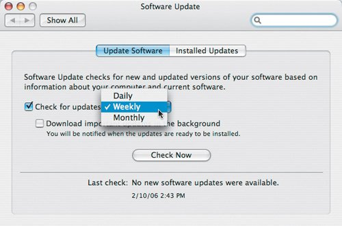 Software Update | Designers Guide to Mac OS X Tiger