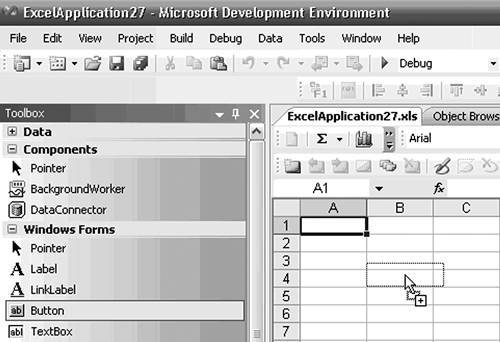 Adding Windows Forms Controls to Your Document | Using Windows Forms