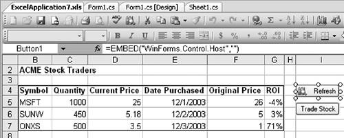 The Windows Forms Control Hosting Architecture   Using
