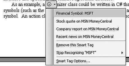Introduction to Smart Tags   Working with Smart Tags in VSTO