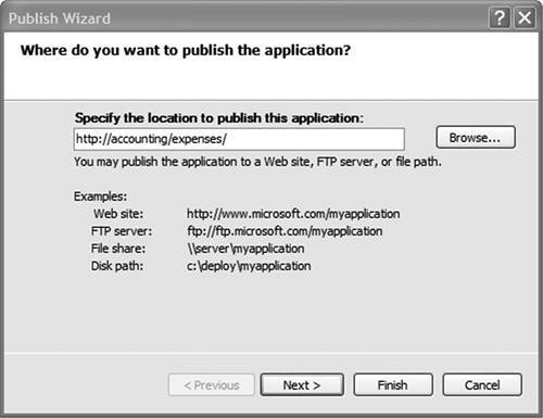 Deploying to an Intranet Shared Directory or Web Site