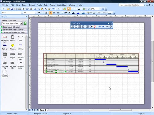 Exporting timelines to create gantt charts creating for Visio gantt chart template