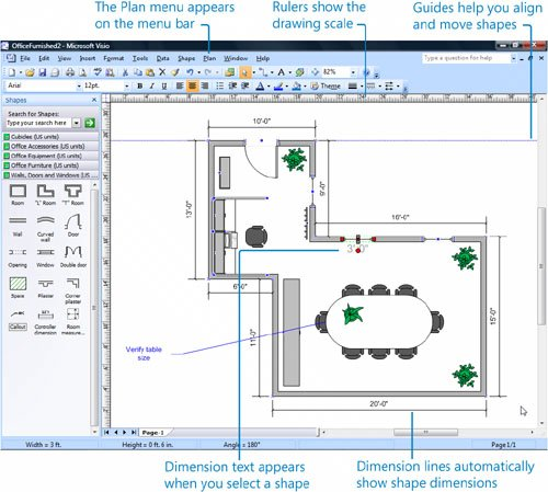 Visio office diagram online schematic diagram creating scaled office spaces laying out office spaces rh flylib com microsoft office visio diagramas de flujo visio workflow diagram ccuart Choice Image