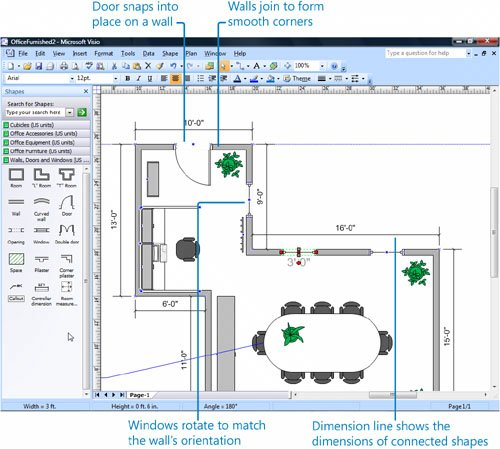 how to use visio 2013 floor plan