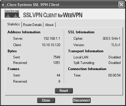 Implementing Full Network Access Using the Cisco SSL VPN
