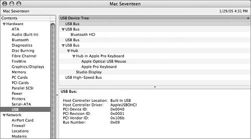 Viewing Peripherals with System Profiler | Apple Training