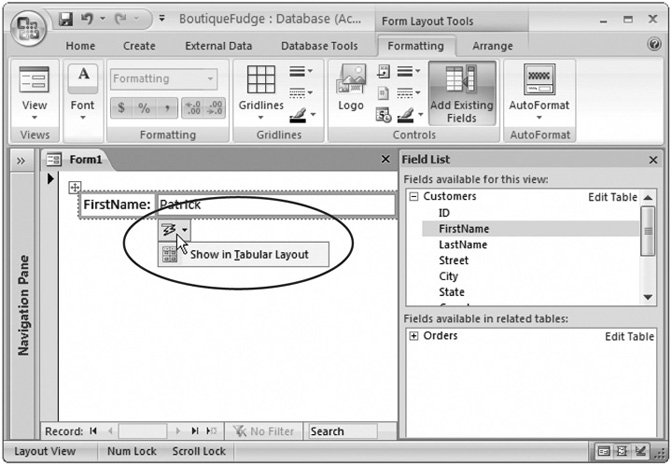 Section 13 1  Customizing Forms in Design View | Access 2007[c] The