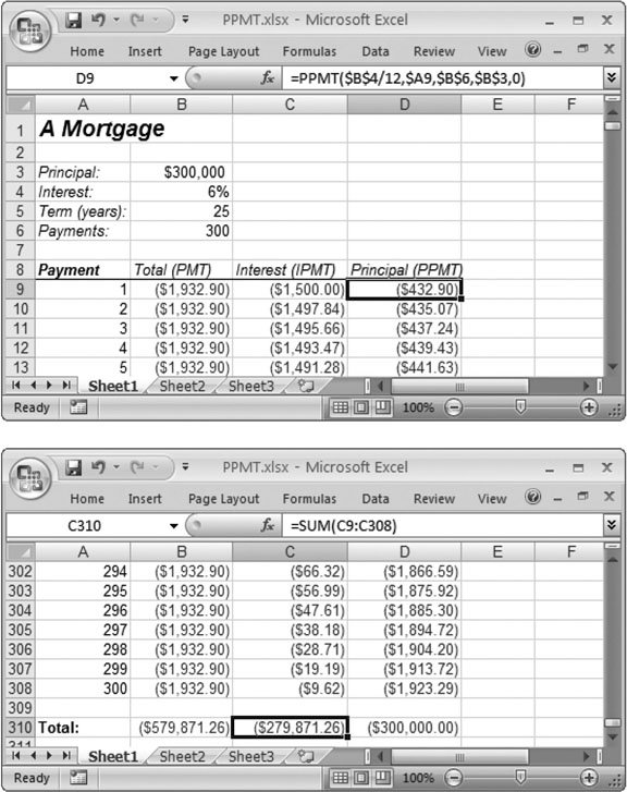 calculate mortgage  payment excel