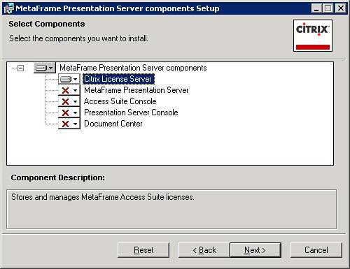 Installing MetaFrame Access Suite Licensing | Citrix CCA
