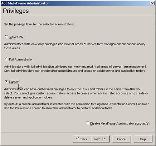 Metaframe presentation server 3