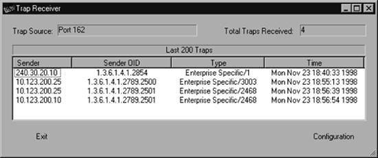 Section 9 2  Receiving Traps | Essential SNMP, Second Edition