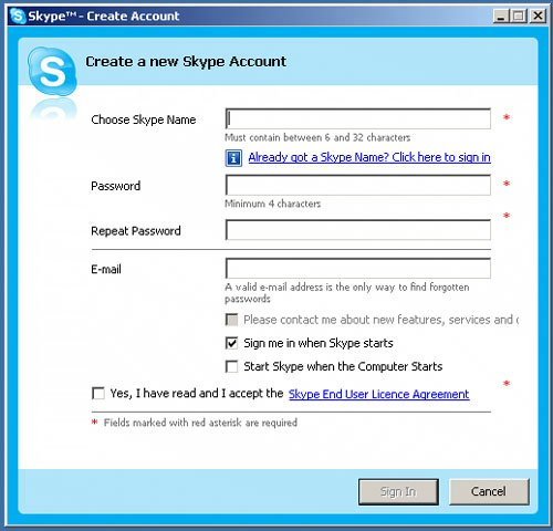 how to create skype account without microsoft