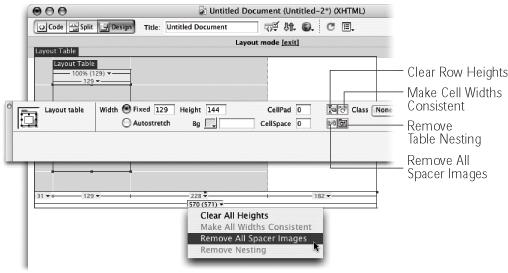 7 2 Layout Mode Dreamweaver Mx 2004 The Missing Manual