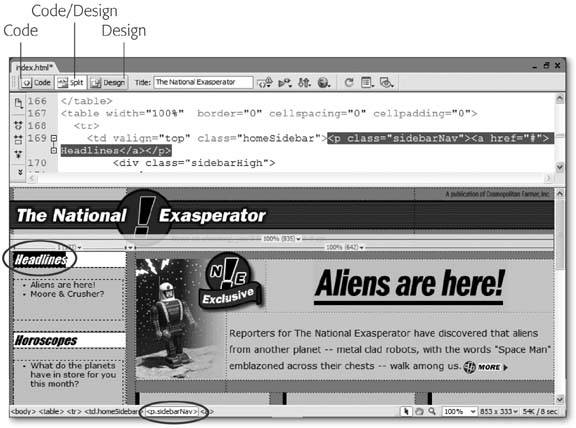 Section 9 2  Code View | Dreamweaver 8[c] The Missing Manual