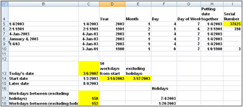 Chapter 6: Dates and Date Functions - MicrosoftВ® Office ExcelВ ...