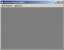 click to expand: this figure shows the choose report option window that provides options to view reports.