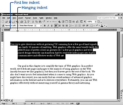 how to get word to automatically indent