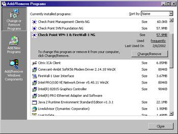 UNINSTALL CHECKPOINT VPN CLIENT TREIBER WINDOWS 10