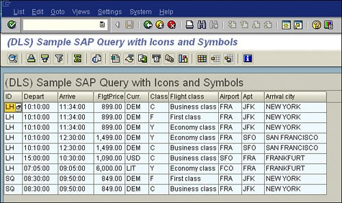 Using Symbols and Icons in an SAP Query | SAP Query Reporting