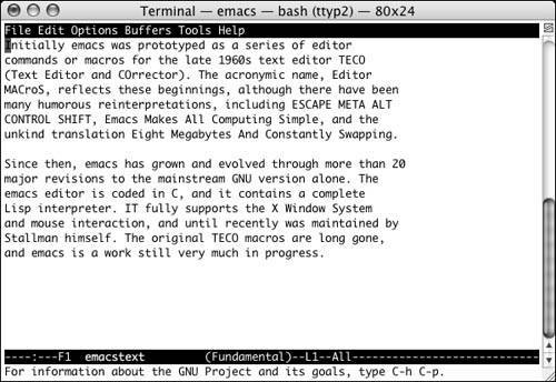 Tutorial: Getting Started with emacs | A Practical Guide to UNIX for