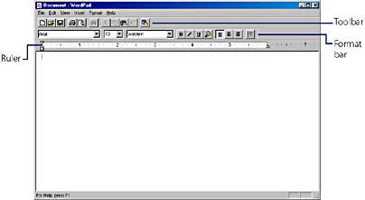 using wordpad running microsoft windows 2000 professional