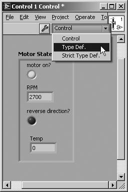 Type Definitions | LabVIEW for Everyone: Graphical
