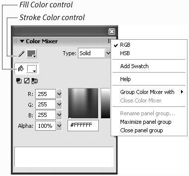 Creating Solid Colors and Gradients | Macromedia Flash 8 for
