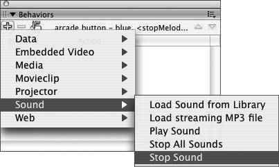 Using Behaviors to Control Sounds | Macromedia Flash 8 for