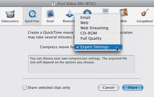 iMovie Compression (Mac) | Secrets of Videoblogging