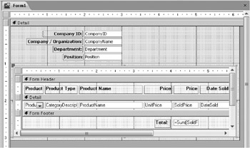 how to create a subform in access 2007