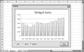 Displaying a Chart in a UserForm | Excel 2007 Power Programming with