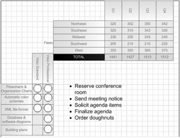 Creating Tables and Lists   Microsoft Office Visio 2007
