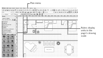 Starting with a Basic Floor Plan | Microsoft Office Visio 2003