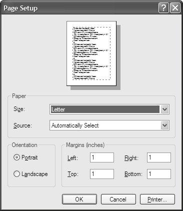 Setting Custom Paper Size problem in Print Document