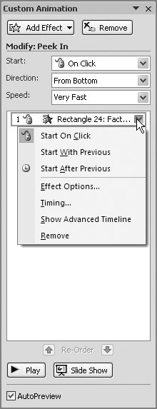 Section 11 2  Custom Animations | PowerPoint 2007