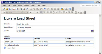 Forms Libraries and Microsoft Office InfoPath