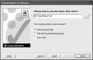 Creating New Reports at Run Time | Crystal Reports 10: The