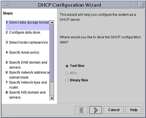 Configuring a DHCP Server   Solaris 9 Network Administrator