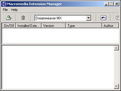 Downloading Extensions | Macromedia Dreamweaver MX 2004