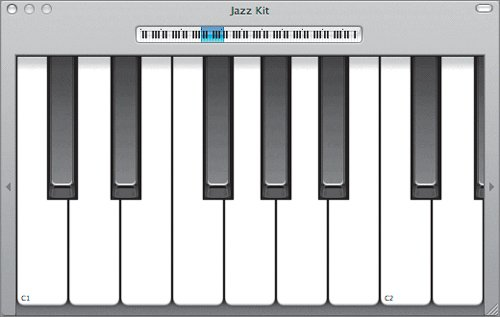 how to bring up onscreen keyboard in garageband