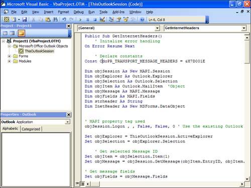 Using the Visual Basic Editor   Sams Teach Yourself