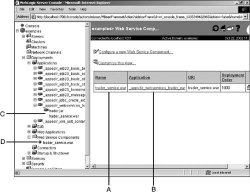 Debugging Your WebLogic Web Services | BEA WebLogic Platform 7