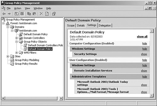 Modifying Administrative Templates | Microsoft Windows Server 2003