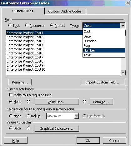 graphical project log