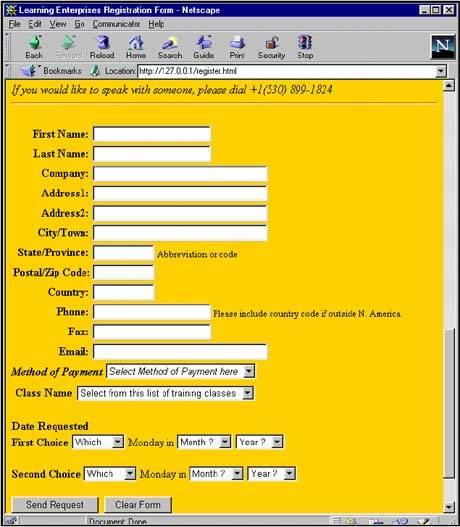 Complete Registration Form in Html Code The Html Registration Form