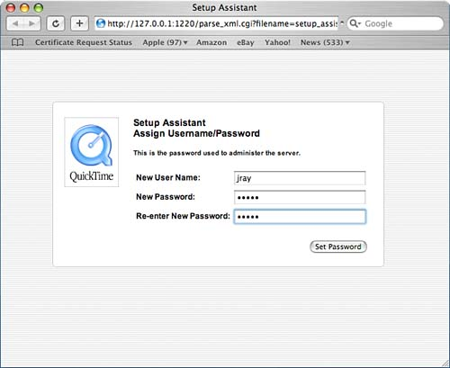 streaming live events with quicktime broadcaster mac os x tiger rh flylib com