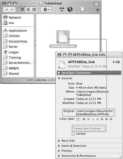 Aliases And Symbolic Links Apple Training Series Mac Os X System