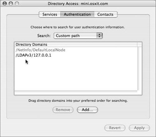 Managing an Open Directory Master | Mac OS X Server 10 4 Tiger