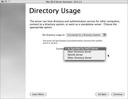 Running Server Assistant | Mac OS X Server 10 4 Tiger: Visual